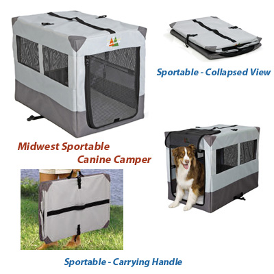 Zoom In  sc 1 st  MightyPets.com & Midwest Canine Camper Sportable - Portable Tent Crate. Lowest Prices!