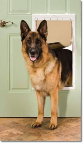 the petsafe plastic pet doors feature a rugged durable plastic frame with closing panel to keep the interior air in and weather out