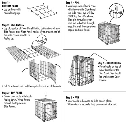 for assembly click here precision pets basic crates