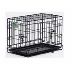 series icrates double door dog crates by midwest plus free quiet time deluxe crate mat with select sizes - Midwest Crates