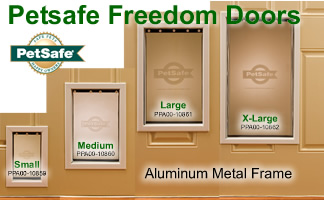 PetSafe FreedomPetDoor Premium Aluminum Dog Door features : petsafe doors - pezcame.com